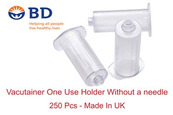 הולדר ואקוטיינר BD ללא מחט 250 יח' במארז - Vacutainer one use holder BD without a needle 250 pcs